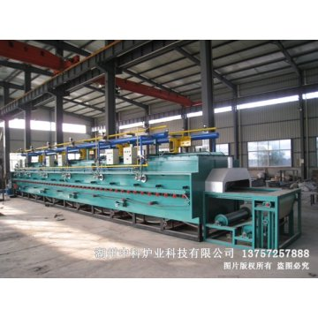 Gas fired mesh belt quenching tempering furnace