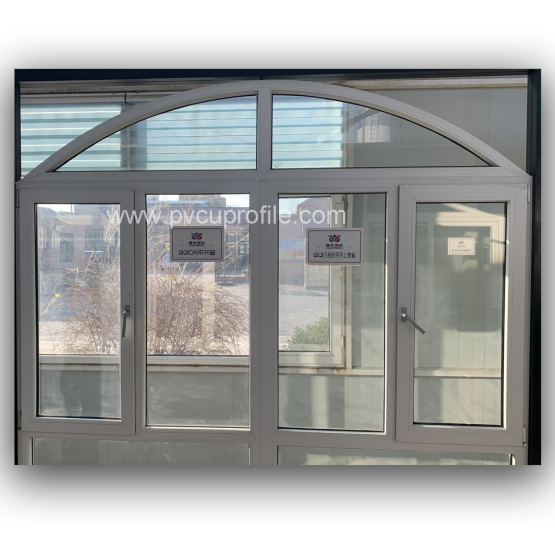 Grey Cheap UPVC Doors Double Glazed Windows Cost