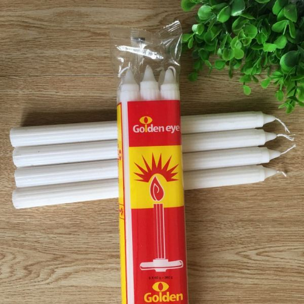 Lighting Paraffin Wax White Plain Candles
