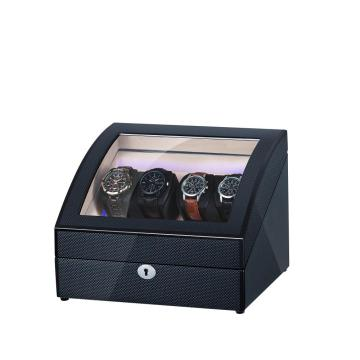 Two Rotors Watch Winder With 4 Extra Storage