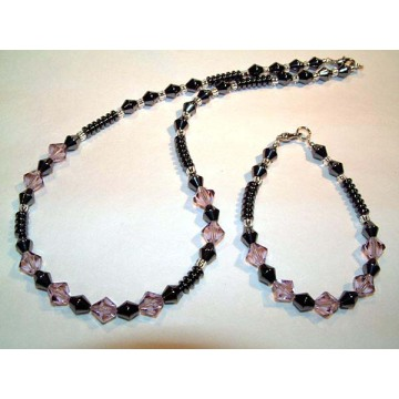 Hematite Set Plum Jewelry