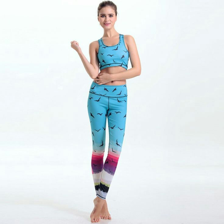 Factory Made Your Design Fitness Workout 3/4 Yoga Legging For Women