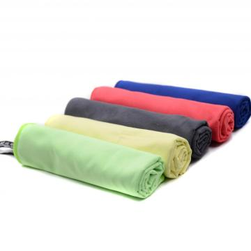 absorbent multi color microfiber running sports gym towel