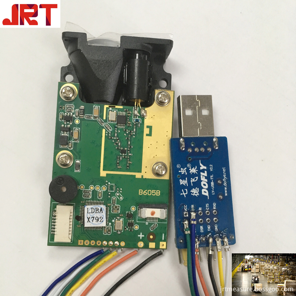 Warehouse Logistics Laser Distance Sensor Module with serial portrs232usb