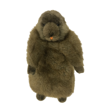Plush Gerbil Brown Toy
