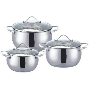 Hot sale 6pcs apple shape cookware set