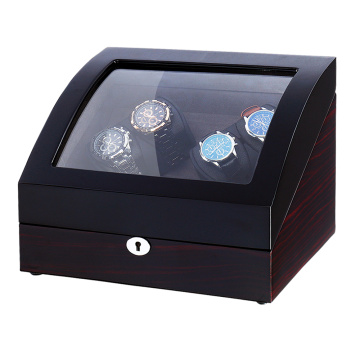 Macassar Veneer Sheet Watch Winder Box