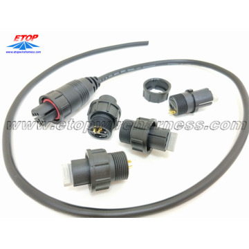 IP68 waterproofing connectors overmolding cable