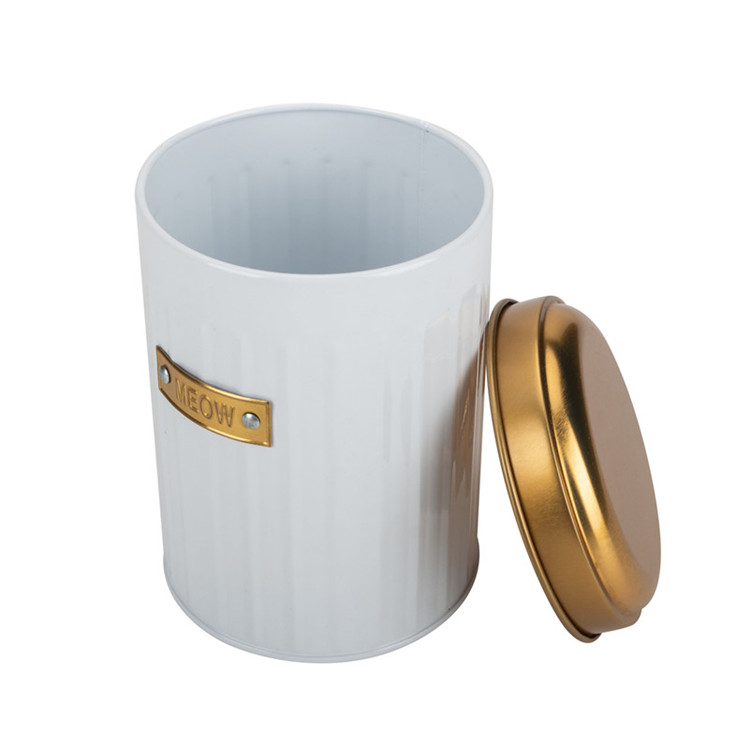 Gold Canister Set White And Gold