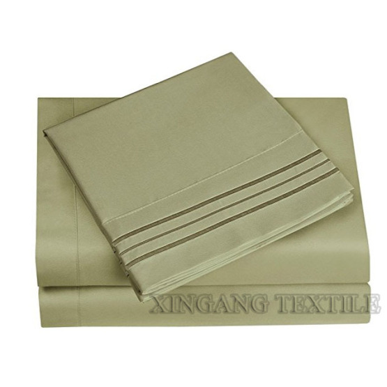 Professional Bedding Sheet Sets Custom Polyester