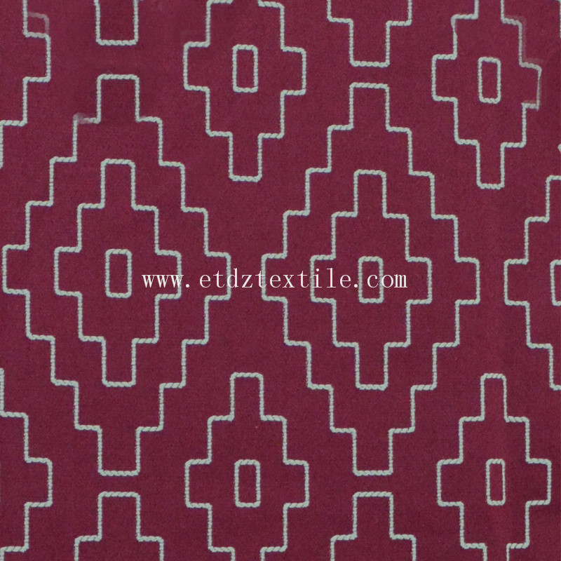 HOT China Design  Jacquard Curtain Fabric GF026 Red