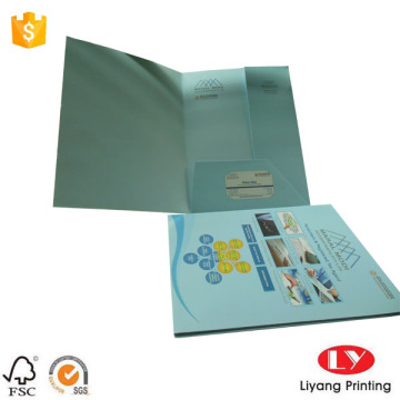 Full color paper folder with one pocket design