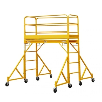 Mobile scaffolding for construction site