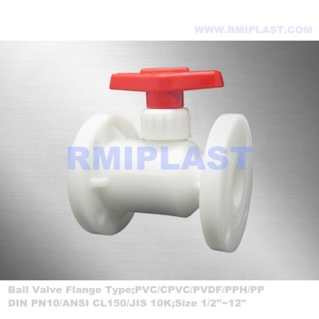 Manual Ball Valve PVDF Flange End ANSI CL150