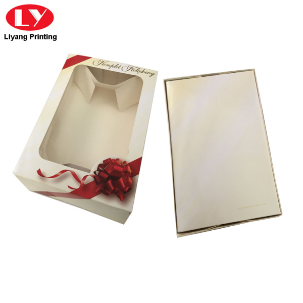Custom Printed Decorative Christmas Paper Gift Box Lids