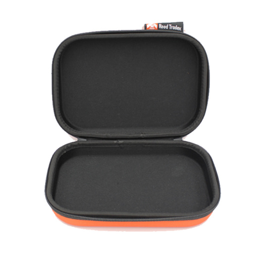 Custom hard nylon earphone carrying case with metal zipper puller