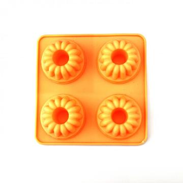 silicone round cake mould with  flower