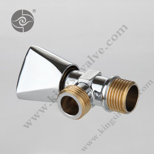 Chrome plating angle valve with thread color