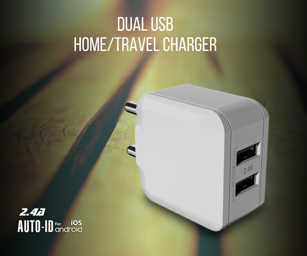 2 ports usb with travel charger