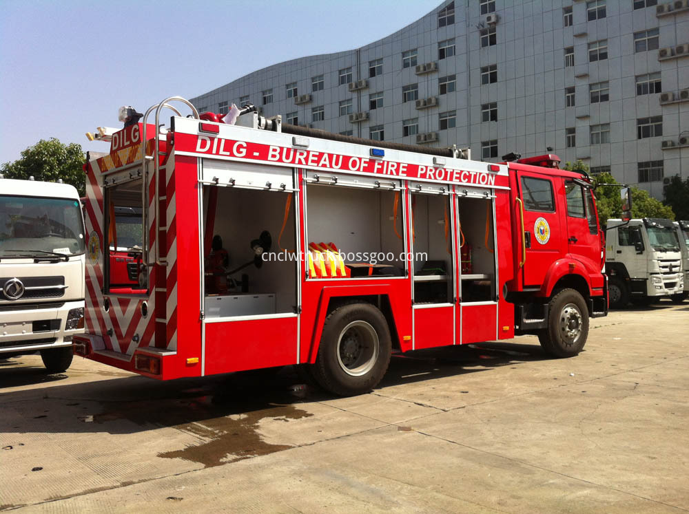 water foam fire truck 4