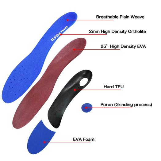 Hard TPU ortholite Orthotic shoes pad insoles
