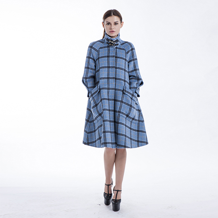 Chequered Blue Winter Outwear