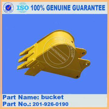 Komatsu spare parts PC60-7 0.2M2 bucket 201-926-0190 for work equipment