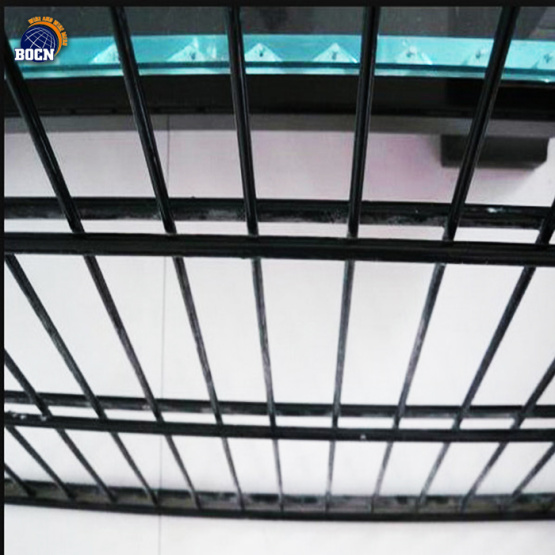 galvanized double rod fence