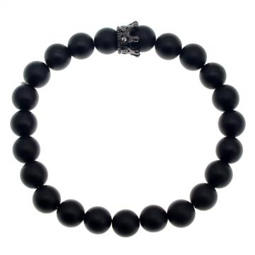 Fashion Cheap 8MM Crown Bracelet For Men Jewelry Charm