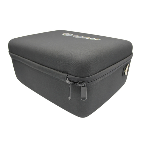 High-capacity travel hard packaging eva cosmetic case with rubber handle