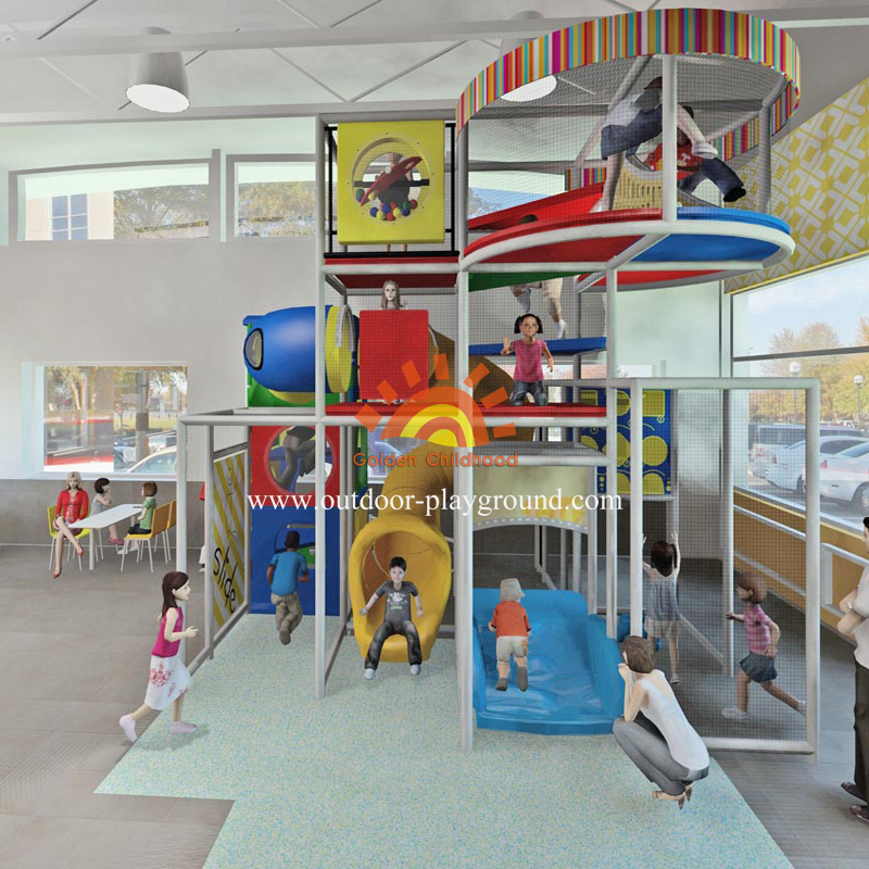 Indoor Play Structure For Kids Playground