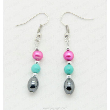 Purple hematite earring