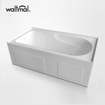 Eaton Skirted Acrylic Bath Tub in White