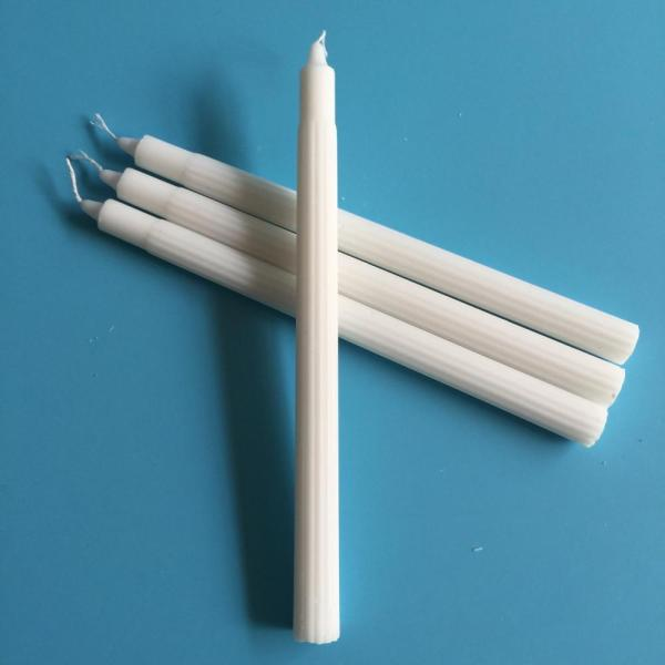400g White Fluted Household Candle Angola Wholesale