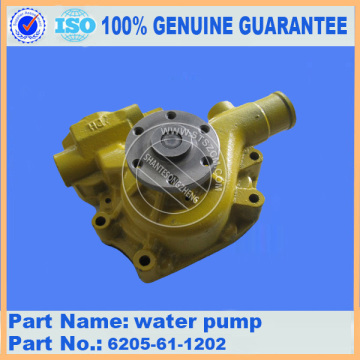 Komatsu water pump 6154-61-1100 for PC400-7