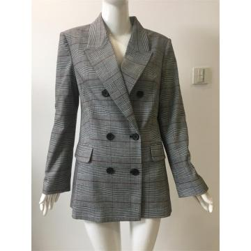 T/R  check double breasted suit