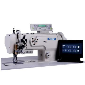 Flatbed Twin Needle Computerized Heavy Duty Ornamental Stitch Sewing Machine