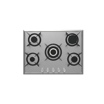 5 Burners Gas Hob with Cast Iron Trivet