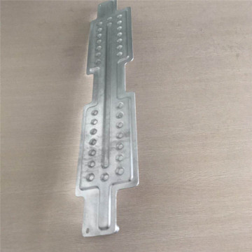 Aluminum thermal collection plate for solar panel