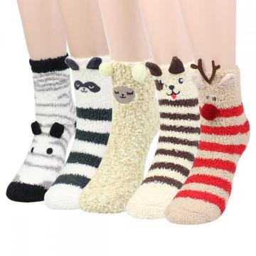 Ladies Home Socks Animal 5P
