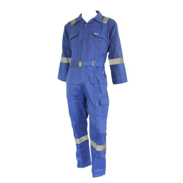 Fire resistant one piece coverall with reflective tape