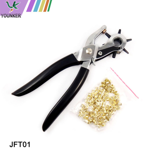 6 Sizes Revolving Leather Belt Hole Punch Plier