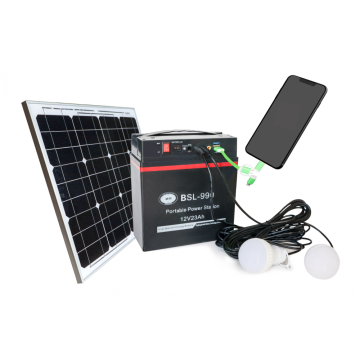 Cheap portable power station generator with solar panel