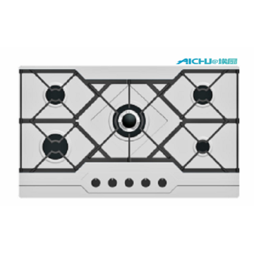 5 Burners 86cm Hob Gas Stove