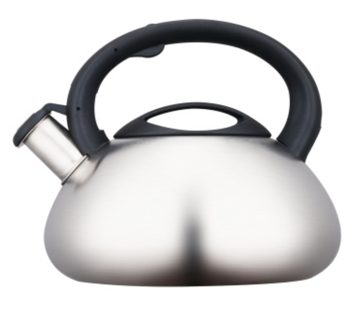 3.0L Stainless Steel Whistling Teakettle with satin polished