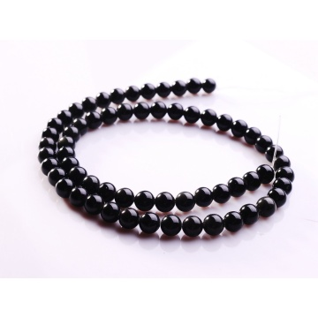 6MM Natural Black Obsidian Round Gemstone Beads 16