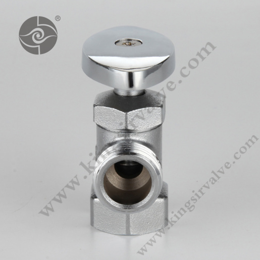 Chrome plating angle valve