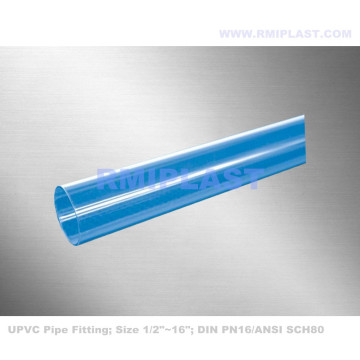 Clear PVC Pipe Fitting ANSI SCH80