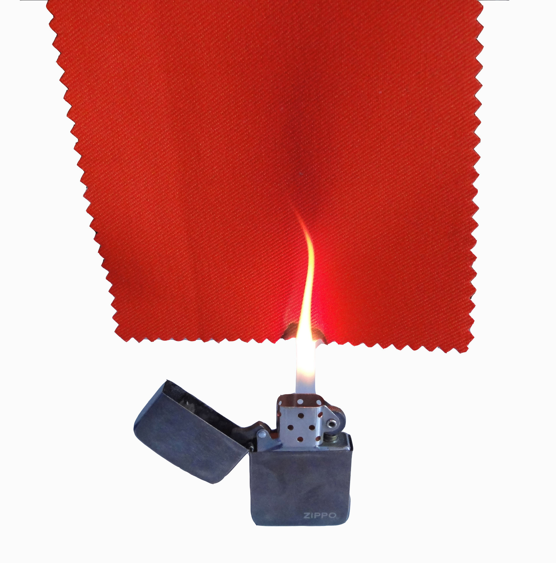 flame resistant red fabric