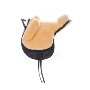 Sheepskin Double Layers Saddle Pad with Foam